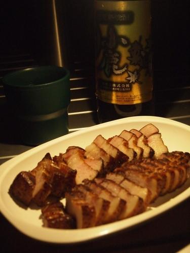 【燻製】焼酎のアテに豚バラ肉の燻製