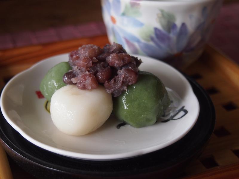 【青汁レシピ】粒あんと食べる♪白玉&ちょらのヘルシーだんご