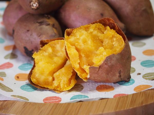 子どもたちのおやつにホクホク安納芋の焼き芋