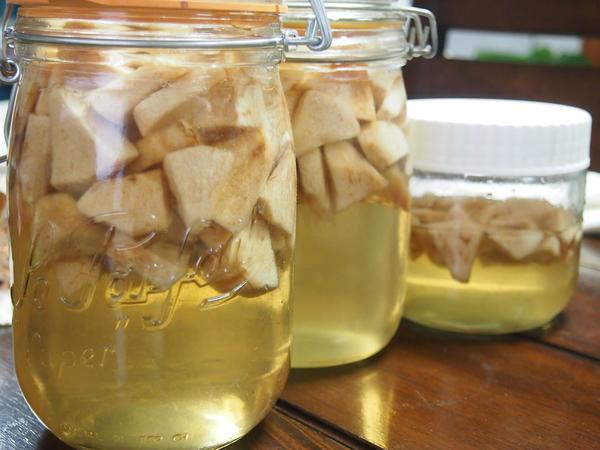 【りんごはスーパーフード】仕込んだりんご酢が完成!